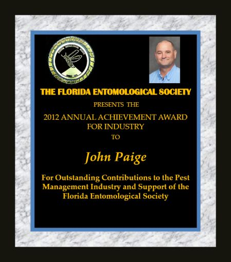 John Paige receives 2012 FES Achievement Award for Industry
